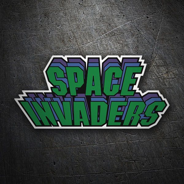 Autocollants: Space Invaders Triple
