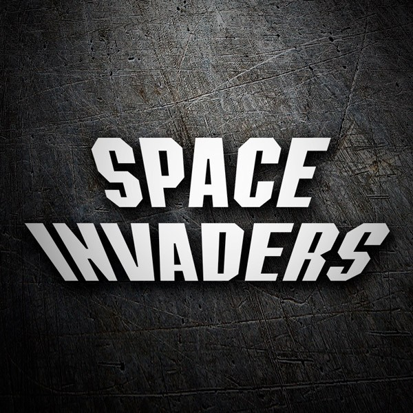 Autocollants: Space Invaders Logo