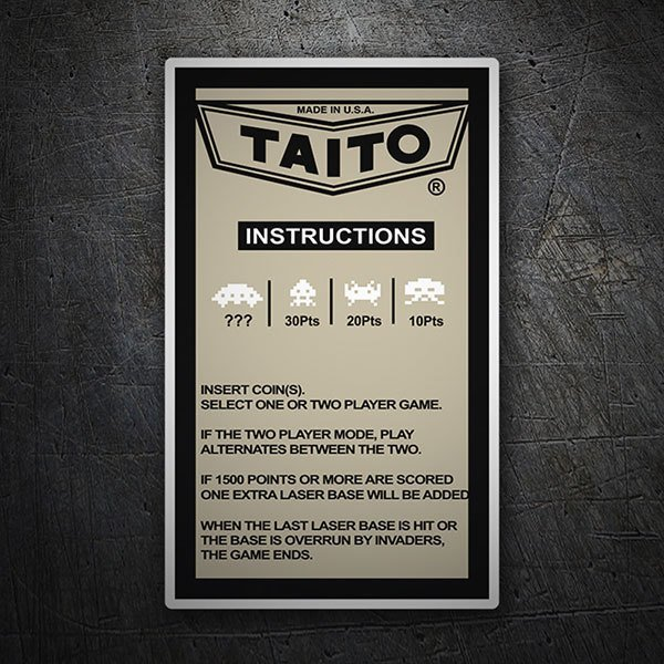Autocollants: Taito Instructions
