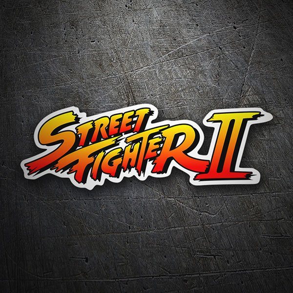 Autocollants: Street Fighter II Logo Ombre