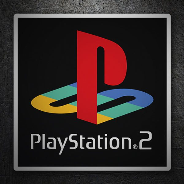Autocollants: Play Station 2 Timbre