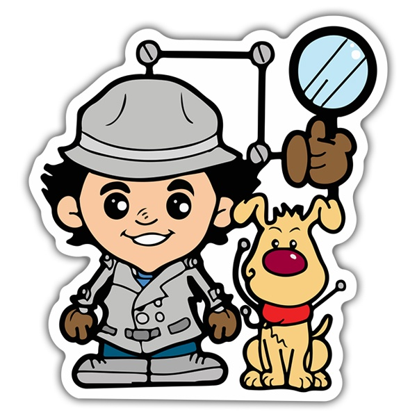 Autocollants: Inspecteur Gadget Cartoon