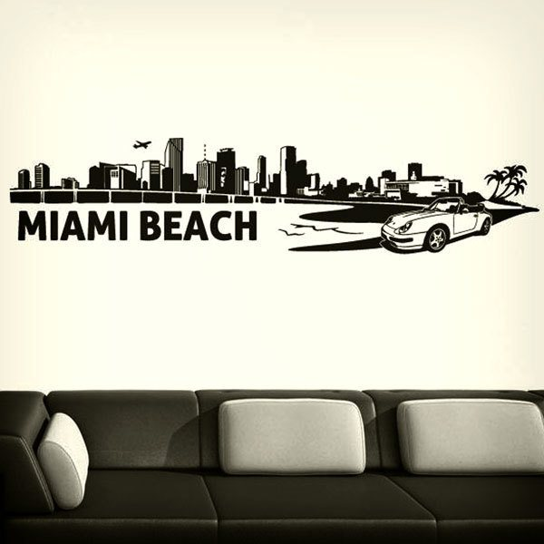 Stickers muraux: Miami Skyline