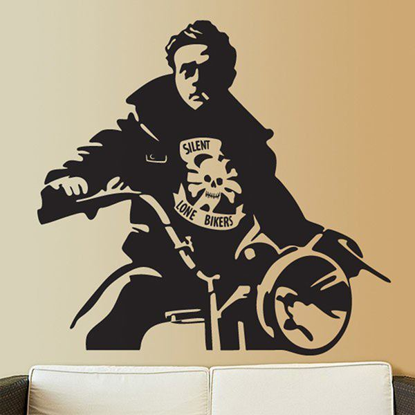 Stickers muraux: James Dean Motorbike