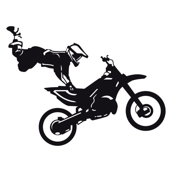 Stickers muraux: Motocross Freestyle