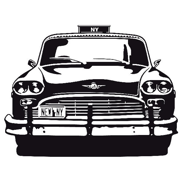 Stickers muraux: Checker Taxi