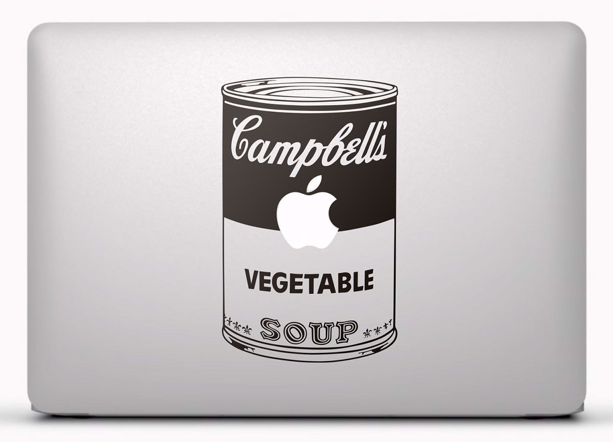 Autocollants: Andy Warhol Campbells Soup