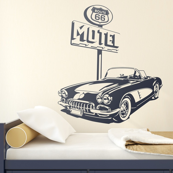Stickers muraux: Chevrolet Corvette Route 66