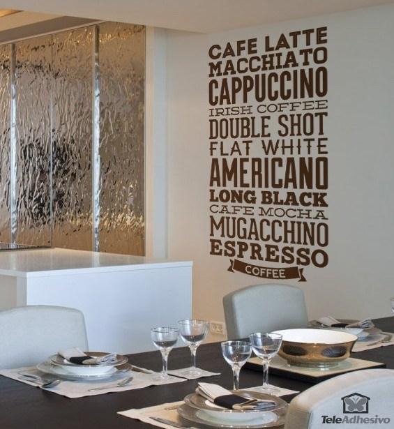 Sticker muraux vari t s de caf for Decoracion de unas cafes