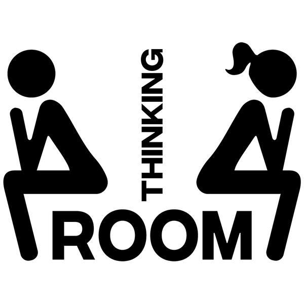 sticker muraux toilettes ic nes de wc pens e. Black Bedroom Furniture Sets. Home Design Ideas