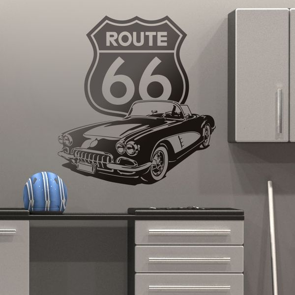 Stickers muraux: Corvette Route 66