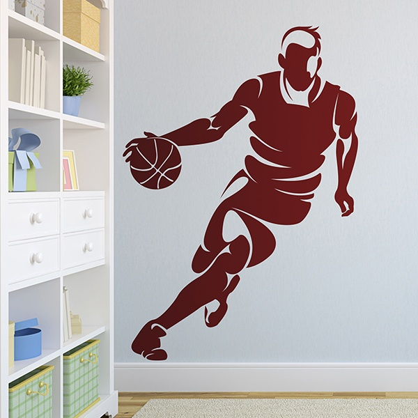 Stickers muraux: Basketteur dribblant 0