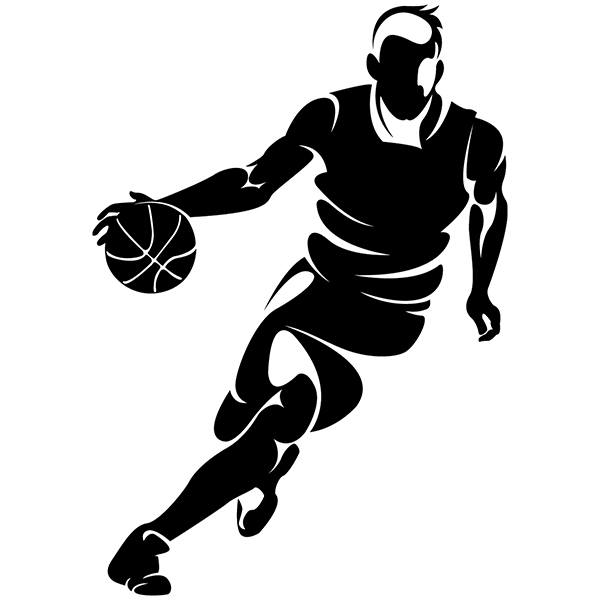 Stickers muraux: Basketteur dribblant