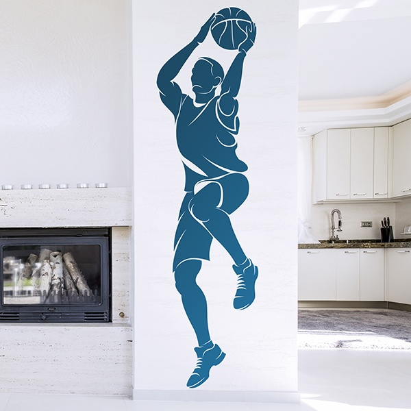 Stickers muraux: Basketteur tir