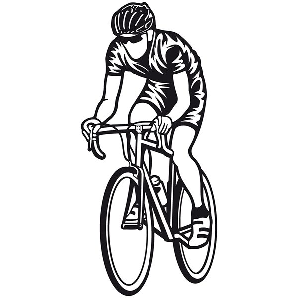 Stickers muraux: Cycliste Sprint