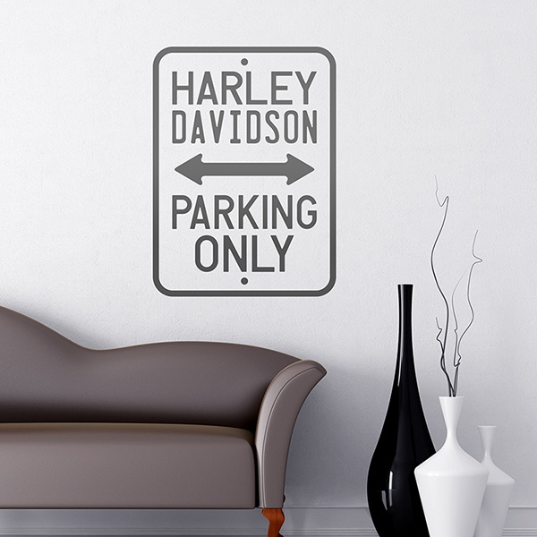 Stickers muraux: Harley Parking Seulement