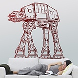 Stickers muraux: AT-AT 2