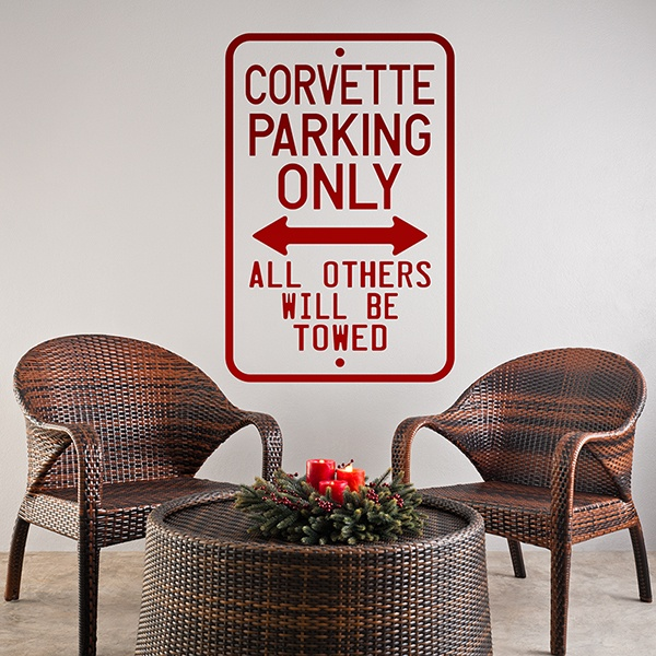Stickers muraux: Corvette Parking Only