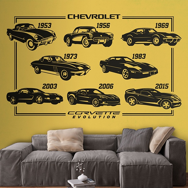 Stickers muraux: Evolution Chevrolet Corvette