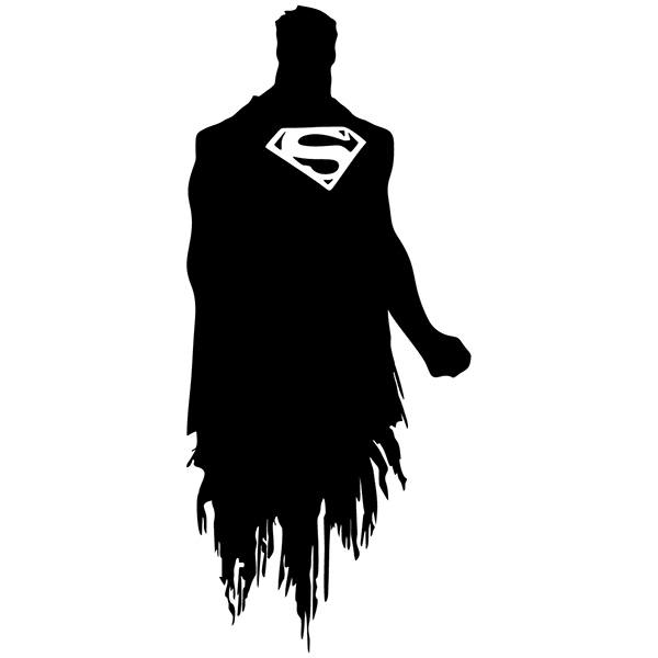 Stickers muraux: Silhouette de Superman
