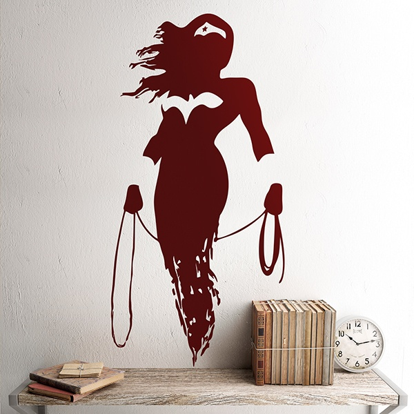 Stickers muraux: Silhouette de Wonder Woman