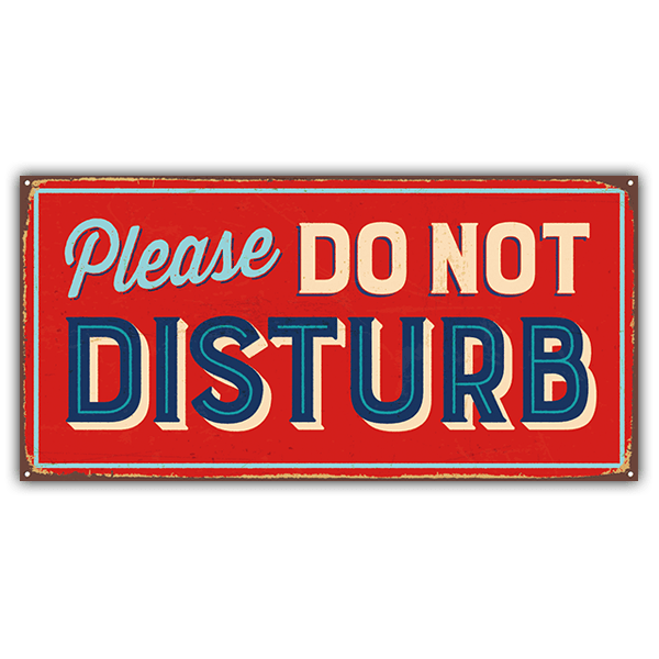 Stickers muraux: Signe retro Please do not disturb