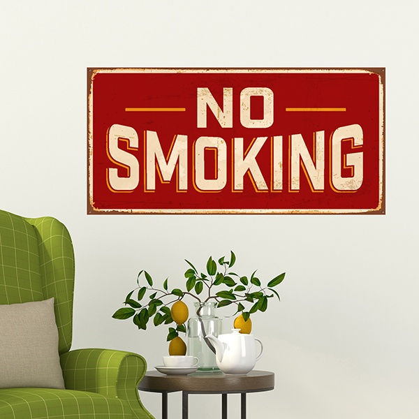Stickers muraux: Signe retro No smoking 1