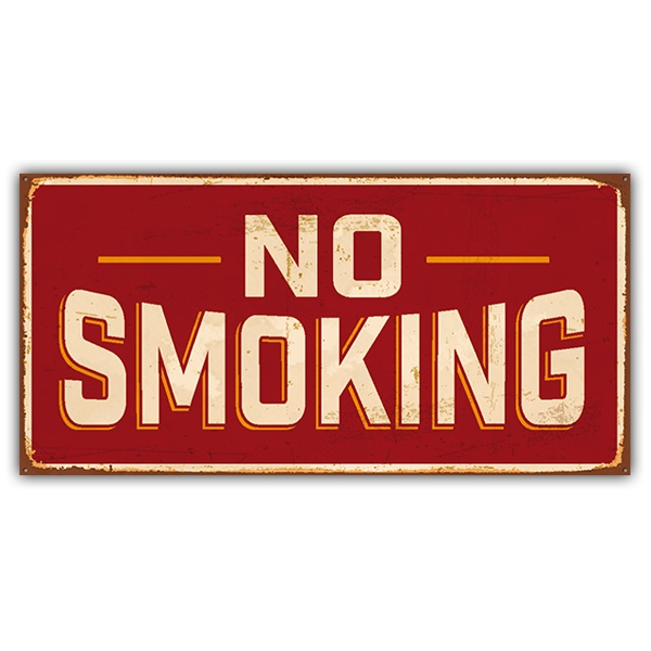 Stickers muraux: Signe retro No smoking