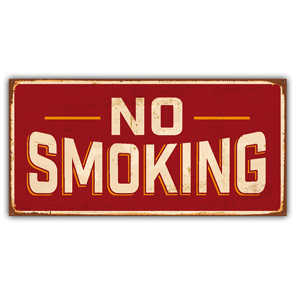 Stickers muraux: Signe retro No smoking 0
