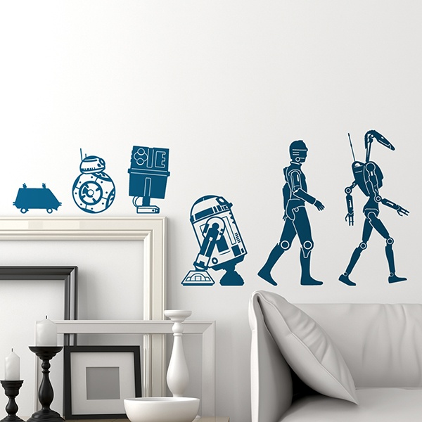 Stickers muraux: Evolution Droid