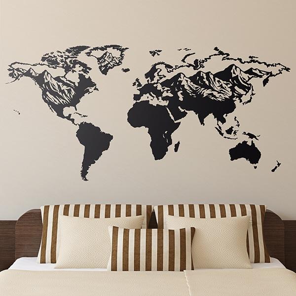 stickers muraux des cartes du monde webstickersmuraux. Black Bedroom Furniture Sets. Home Design Ideas