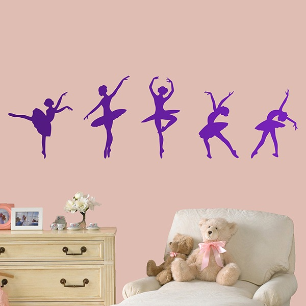 Stickers muraux: Figures de ballet