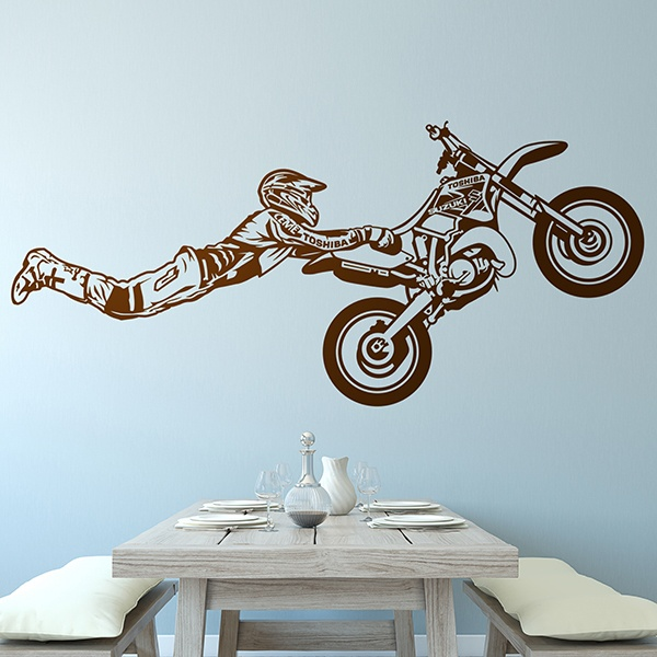Stickers muraux: Superman saut de motocross