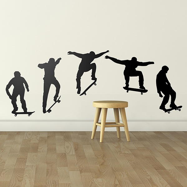 Stickers muraux: Evolution Skate Ollie