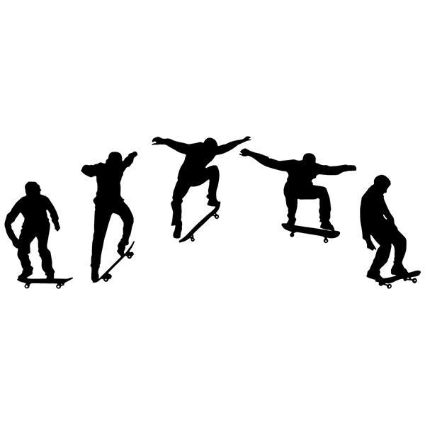 Sticker Mural Evolution Skate Ollie Webstickersmuraux Com