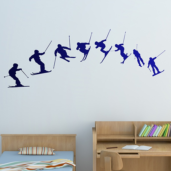 Stickers muraux: Ski Evolution 180º