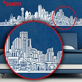 Stickers muraux: Dallas Skyline 4