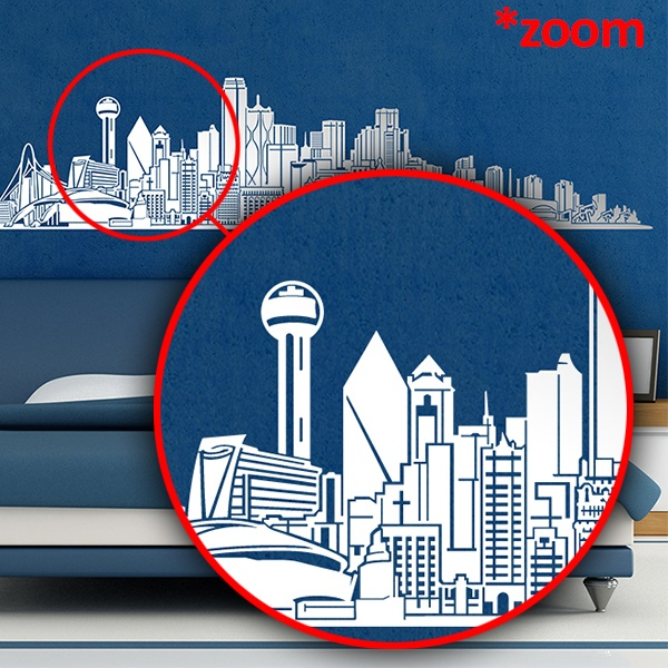 Stickers muraux: Dallas Skyline