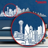 Stickers muraux: Dallas Skyline 5