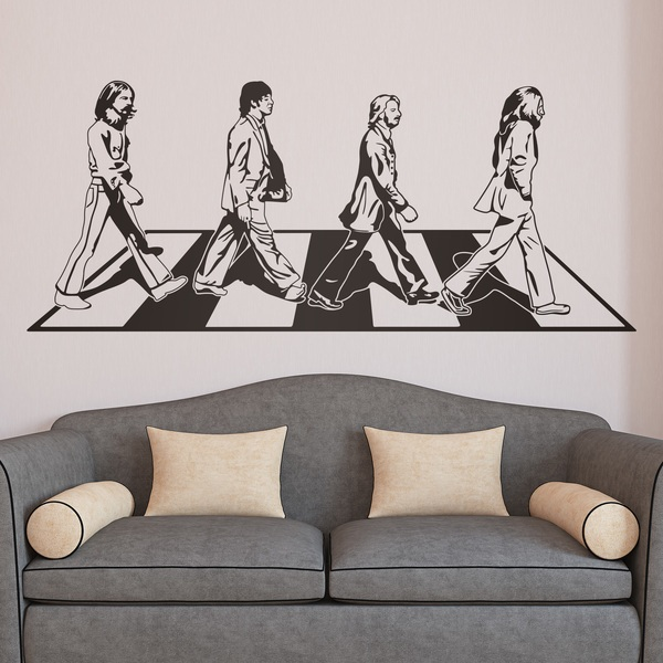 Stickers muraux: Beatles sur Abbey Road