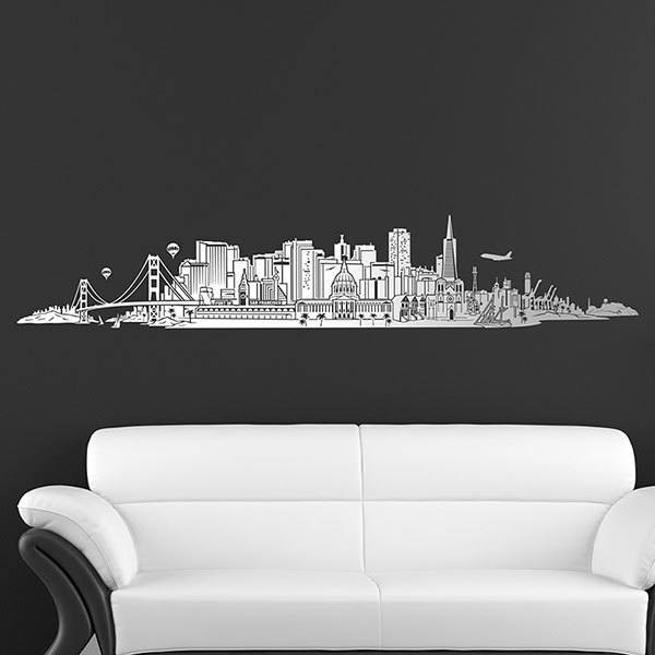 Stickers muraux: San Francisco Skyline