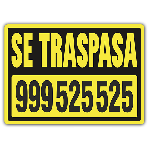 Stickers muraux: Traspasa Jaune