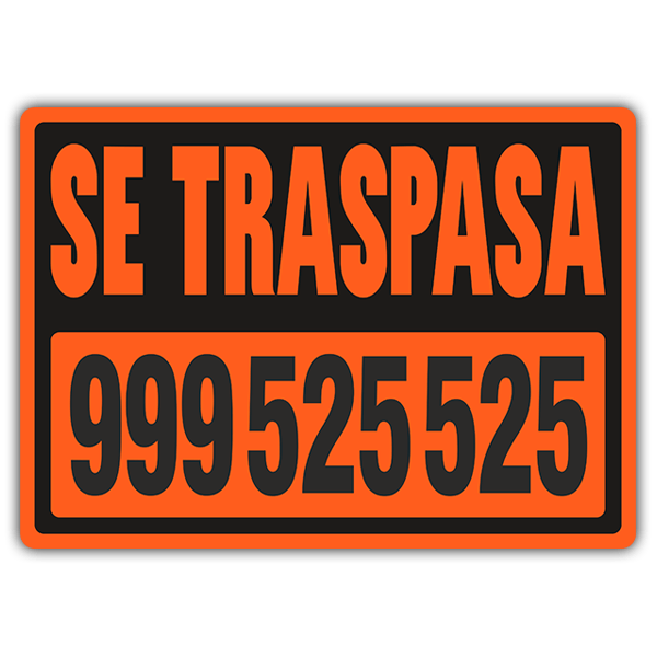 Stickers muraux: Traspasa Orange
