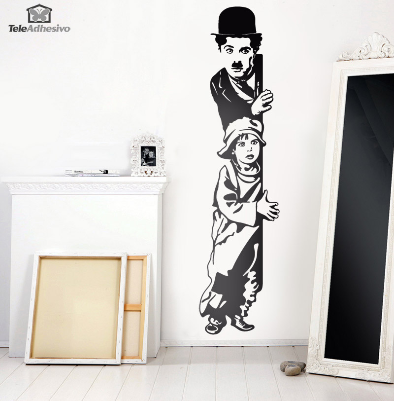 Stickers muraux: Chaplin The Kid