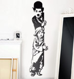 Stickers muraux: Chaplin The Kid 2