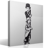 Stickers muraux: Chaplin The Kid 5