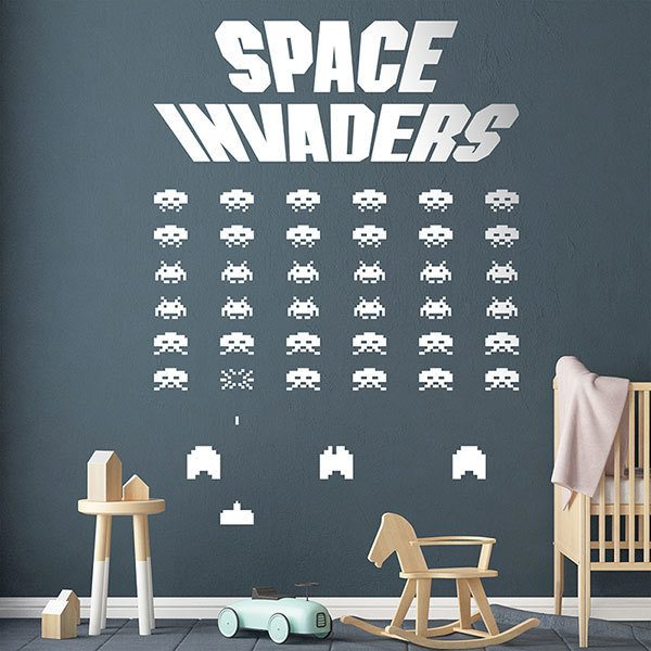 Stickers muraux: Space Invaders Game