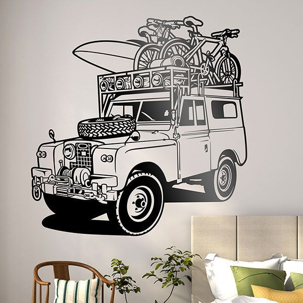 Stickers muraux: Classiques Land Rover sports d