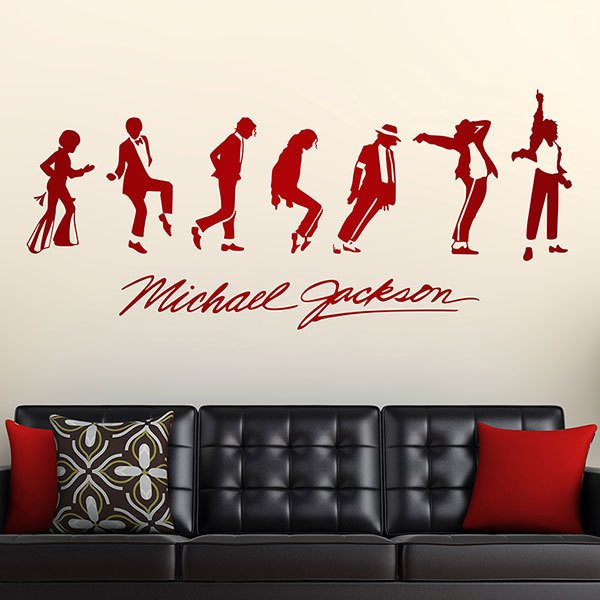Stickers muraux: Michael Jackson Evolution