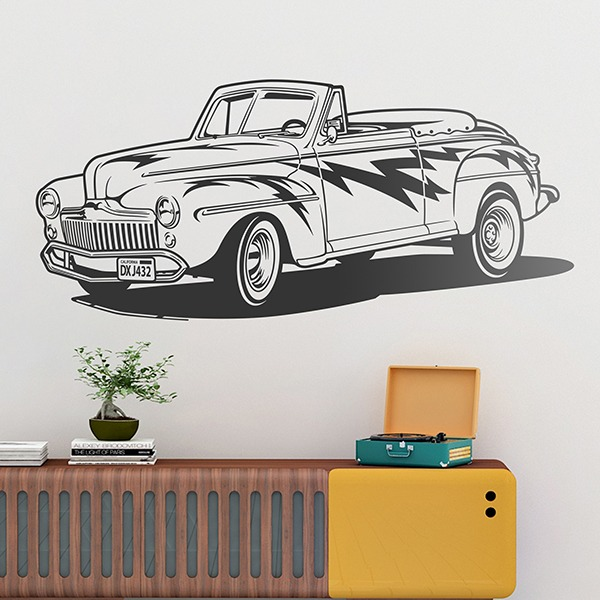 Stickers muraux: Ford Convertible 1948 (Grease)